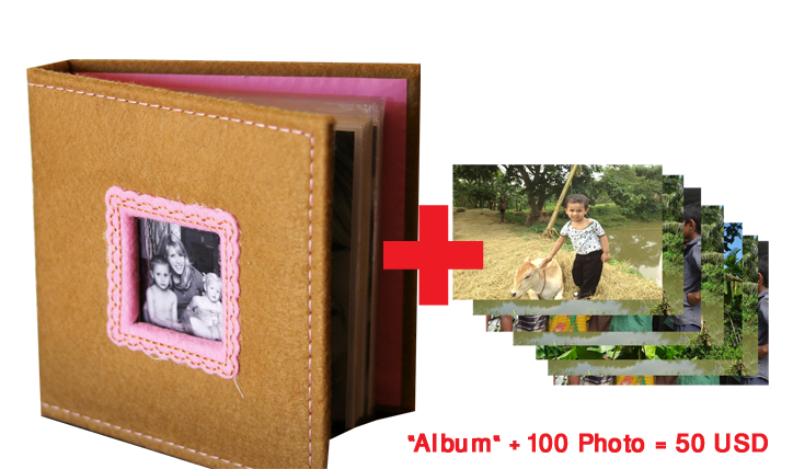 One Album with 100 Picture Package