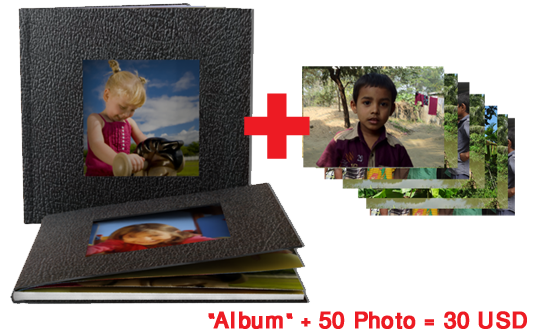 One Album with 50 Picture Package